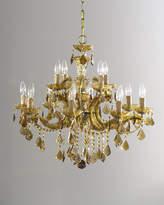 Horchow Golden Teak 12-Light Chandelier