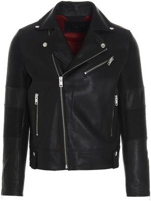 Diesel L-Starkville Leather Biker Jacket