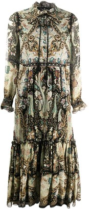 Etro Tiered-Ruffle Silk Dress