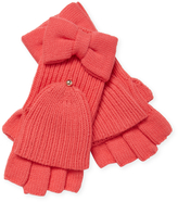 Kate Spade Women's Solid Bow Pop Top Glove