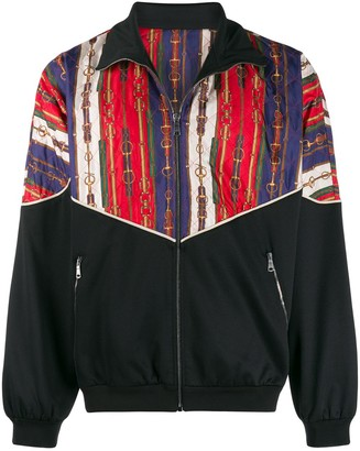 Gucci Oversize bi-material jacket