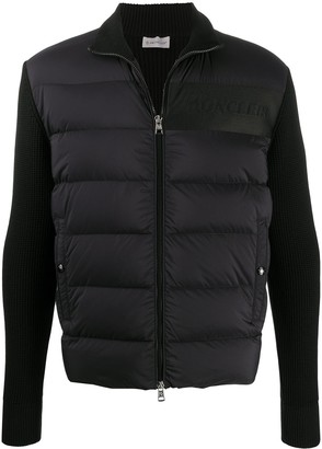Moncler Padded-Panel Knitted Jacket