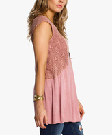 Anama Terra-Cotta Lace-Accent Tunic