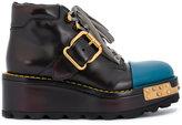 Prada chunky buckled boots