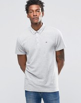 Tommy Hilfiger Polo Shirt With Button Down Collar In Gray