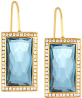 Ippolita Rock Candy Gelato 18k Topaz & Diamond Baquette Drop Earrings, Blue