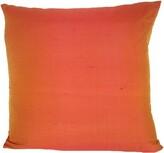Design Accents Llc Knife Edge Silk Throw Pillow Design Accents LLC Color: Cranberry