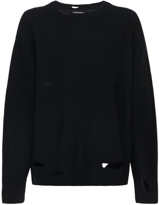 A-Cold-Wall* Destroyed Wool Blend Knit Sweater