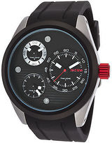 Redline Red Line 10557-01-BB Men's Jetstream Multi-Function Black Silicone and Dial