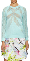 Milly Cotton Directional Mesh Sweater