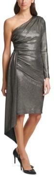 Vince Camuto Metallic One-Shoulder Dress