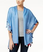 INC International Concepts Tassel Wrap & Scarf & Cover-Up in One, Only at Macy's