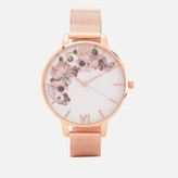 Olivia Burton Women's Winter Garden Watch - Rose Gold Mesh