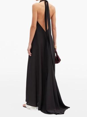 Kalita Nightingale Halterneck Silk-crepe Dress - Black White