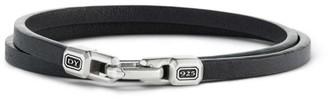 David Yurman Steamline Leather Wrap Bracelet
