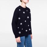 Paul Smith Women's Spotted Navy Shetland Wool Sweater