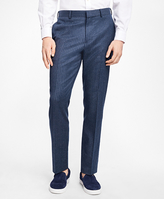 Brooks Brothers Slim-Fit Chalk-Stripe Stretch-Wool Suit Trousers