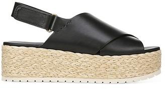 Vince Jesson Platform Espadrille Leather Slingback Sandals