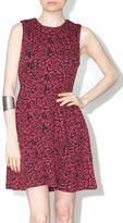 Dex Rose Jacquard Dress