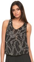JLO by Jennifer Lopez Women's Print Wrap Tank