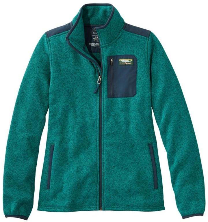 L.L. Bean Women's L.L.Bean Sweater Fleece Full-Zip Overlay Jacket