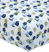 Nautica Zachary Cotton Sailboat-Print Fitted Crib Sheet Bedding