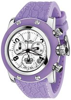 Glam Rock Women's GR11104 Miami Collection Chronograph Stainless Steel and Lilac Rubber Watch