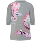 Kenzo KidsBaby Girls Grey Flower Print Sweater Dress