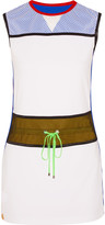 Monreal London Mesh-paneled stretch-jersey dress