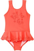 Seafolly Girls' Go Go Girl Flutter Bye Peplum One Piece (6mos7yrs) - 8123213