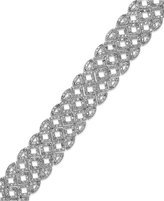 Townsend Victoria Diamond Scroll Bracelet in Silver-Plated Brass (1/2 ct. t.w.)