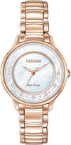 Citizen 30mm Rose Golden Circle of Time Diamond Bracelet Watch