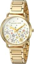 Michael Kors Women's 'Portia' Quartz Stainless Steel Casual Watch, Color:Gold-Toned (Model: MK3840)