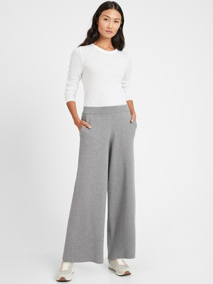 Banana Republic Petite Wide-Leg Sweater Pant