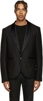 Pierre Balmain Black Single-Button Blazer