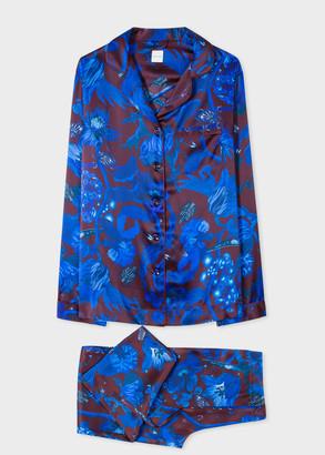 Paul Smith Women's Blue 'Beetle Botanical' Print Silk Pyjama Set