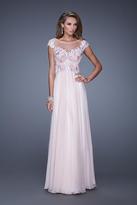 La Femme 20540 Lace Illusion Bateau A-line Dress