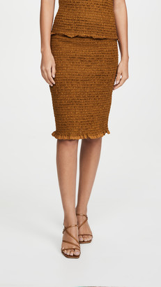 Proenza Schouler White Label Smocked Skirt