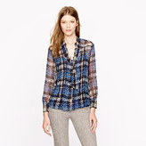 J.Crew Collection secretary blouse in clip dot tweed