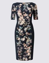 Marks and Spencer PETITE Oriental Floral Print Bodycon Dress