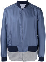 Fendi striped hem bomber jacket - men - Silk/Cotton/Polyamide/Spandex/Elastane - 48