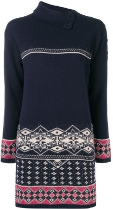 Chanel Pre Owned Intarsia Knitted Dress