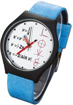 FeiFan Creative Boys Girls Math Formula Equation Dial Unisex Leather Quartz Wrist Watch,Blue