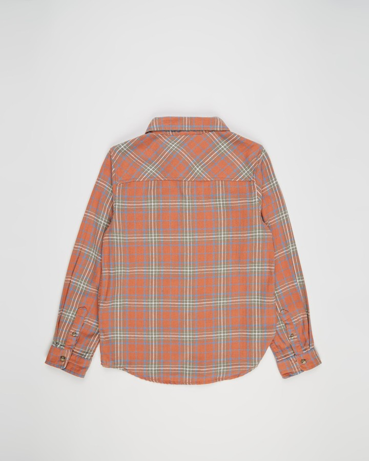 Thumbnail for your product : Cotton On Boy's Brown Check Shirts - Rocky Long Sleeve Shirt - Teens - Size 12 YRS at The Iconic