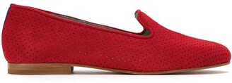 Blue Bird Shoes perforated suede loafers