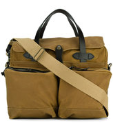 Filson 24 Hour Tin briefcase - men - Cotton/Leather - One Size