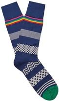 Paul Smith Polka-dot striped cotton-blend socks