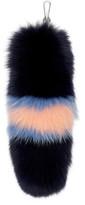 Versace Navy Fox Fur Keychain