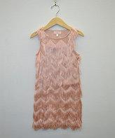My Michelle Pink Geometric Fringe-Layer Dress