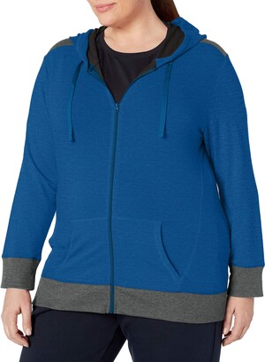 Just My Size Women's Plus-Size Active French Terry Full-Zip Hoodie